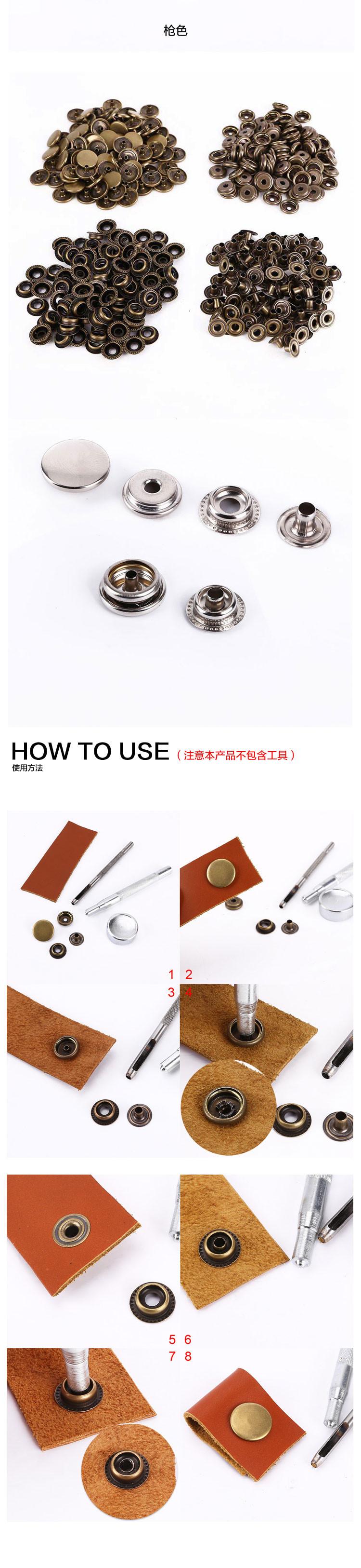 Aliexpress.com: Comprar 100set Botones a presión de Metal snaps Corchete…