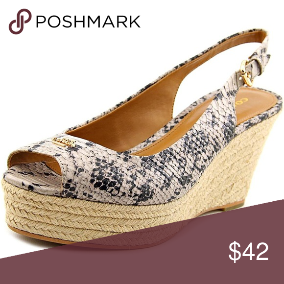 9f6acb5b42a Coach ferry snakeskin wedge shoes. Size 7.5 B Authentic Coach ferry ...