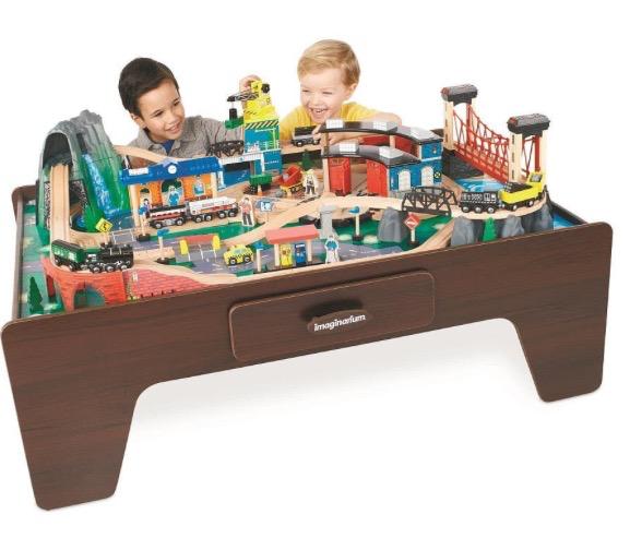 Product Review Imaginarium Mountain Rock Train Table Train Table Wooden Train Set Wooden Train