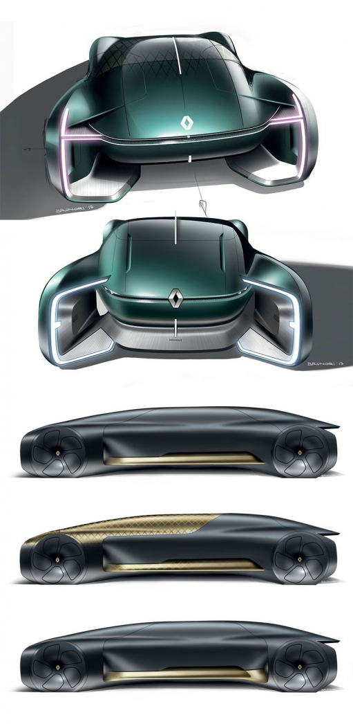 Renault EZ-Ultimo Concept: Design Sketches #renault #conceptcar #futuristic #designsketch #cardesign #carbodydesign #carandmotorcycledesign #car #and #motorcycle #design
