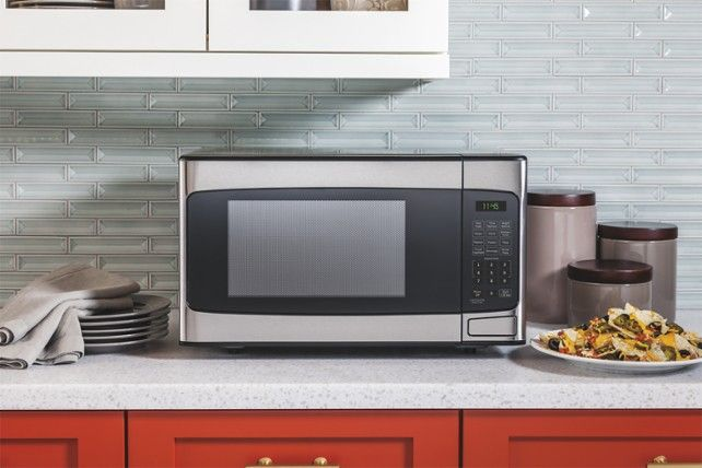 Ge 1 1 Cu Ft Mid Size Microwave Stainless Steel Jes1145shss