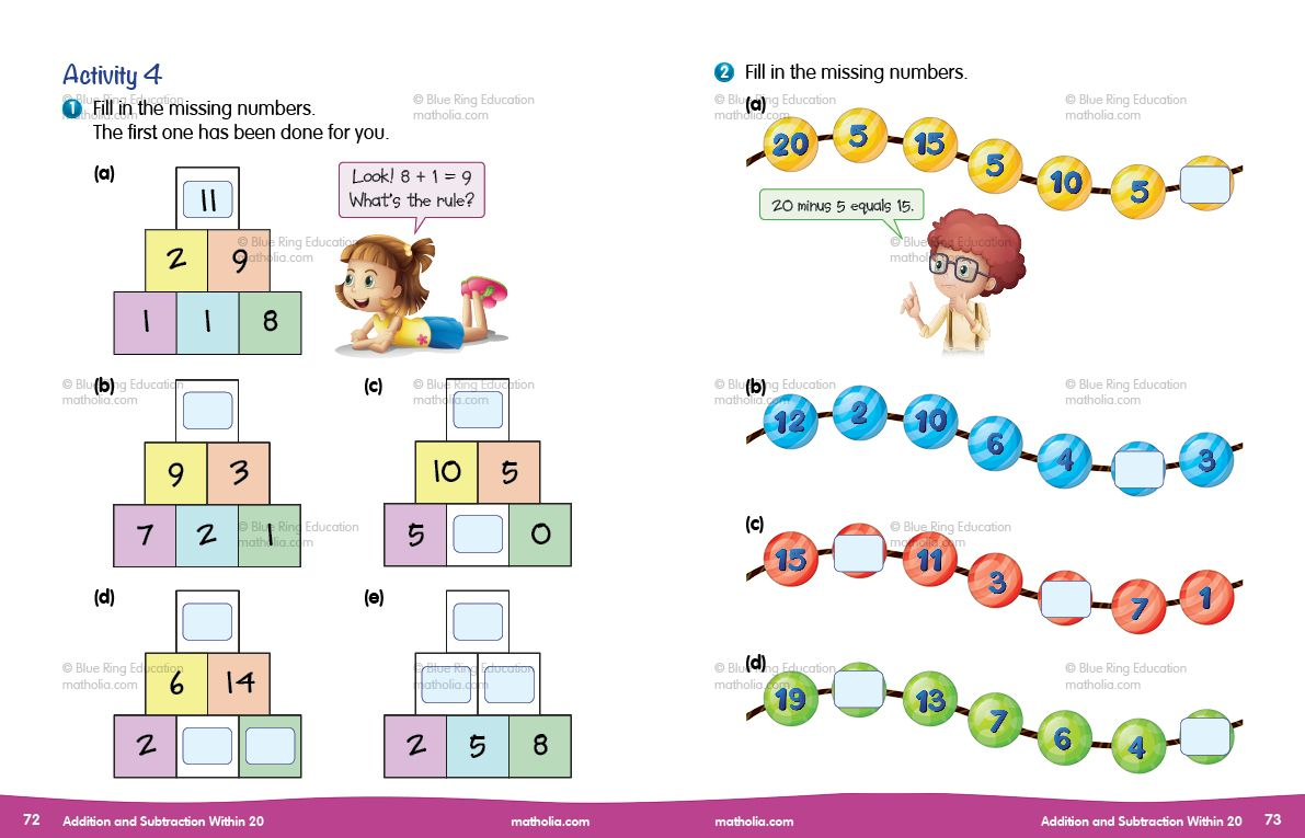 Addition And Subtraction Within 20 Activity 4 Part 1 Play To Learn Problem Solving Primary Maths Primary maths addition and
