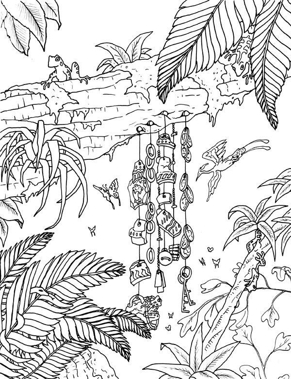 doodle animals coloring Pesquisa Google Jungle