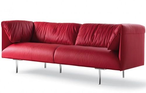 A Rainbow Indoors: 10 Colored Leather Couches | Furniture Fashion