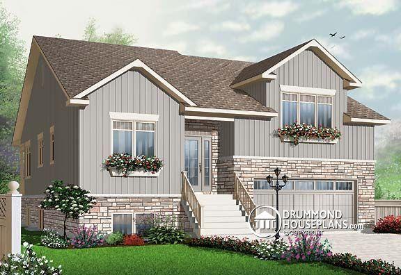 House plan w3467 beautiful rustic charm and craftsman - 4 bedroom split level floor plans ...