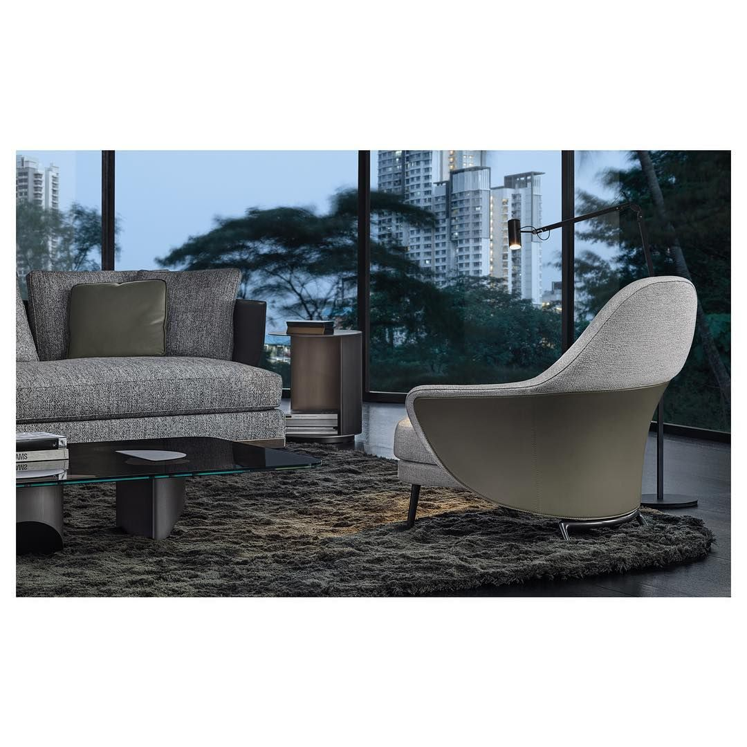 Minotti Spa On Instagram Introducing Angie A Perfect Blending Of Saddle Hide And Surprising Materials Enhanced By A Unique Env Minotti Cottage Living Design