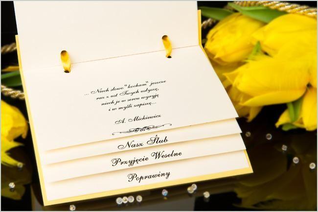 Zaproszenia ślubne 4w1 Podziękowania I Bilecik 5367068726