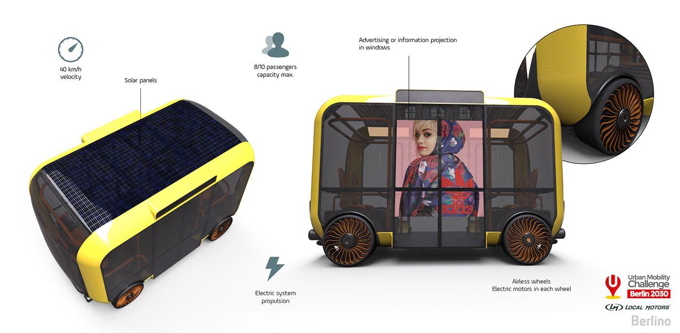Berlino. Smart minibus system on Behance Mini bus, Bus