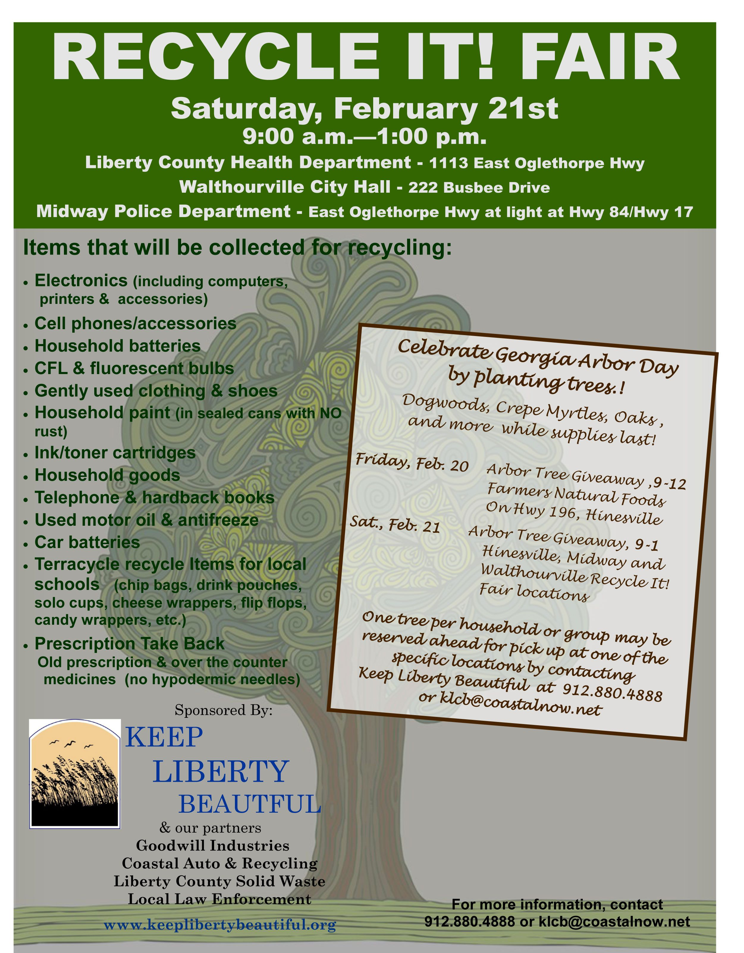 Arbor day tree giveaways liberty county arbour