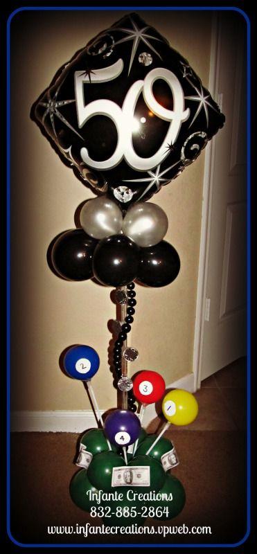 Billiards Themed Centerpiece 832 885 2864 Pool Birthday Party