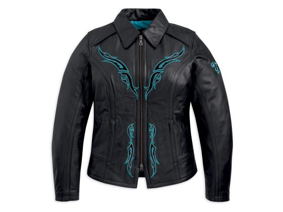 Harley Davidson Women's Sahara Leather Jacket Front View