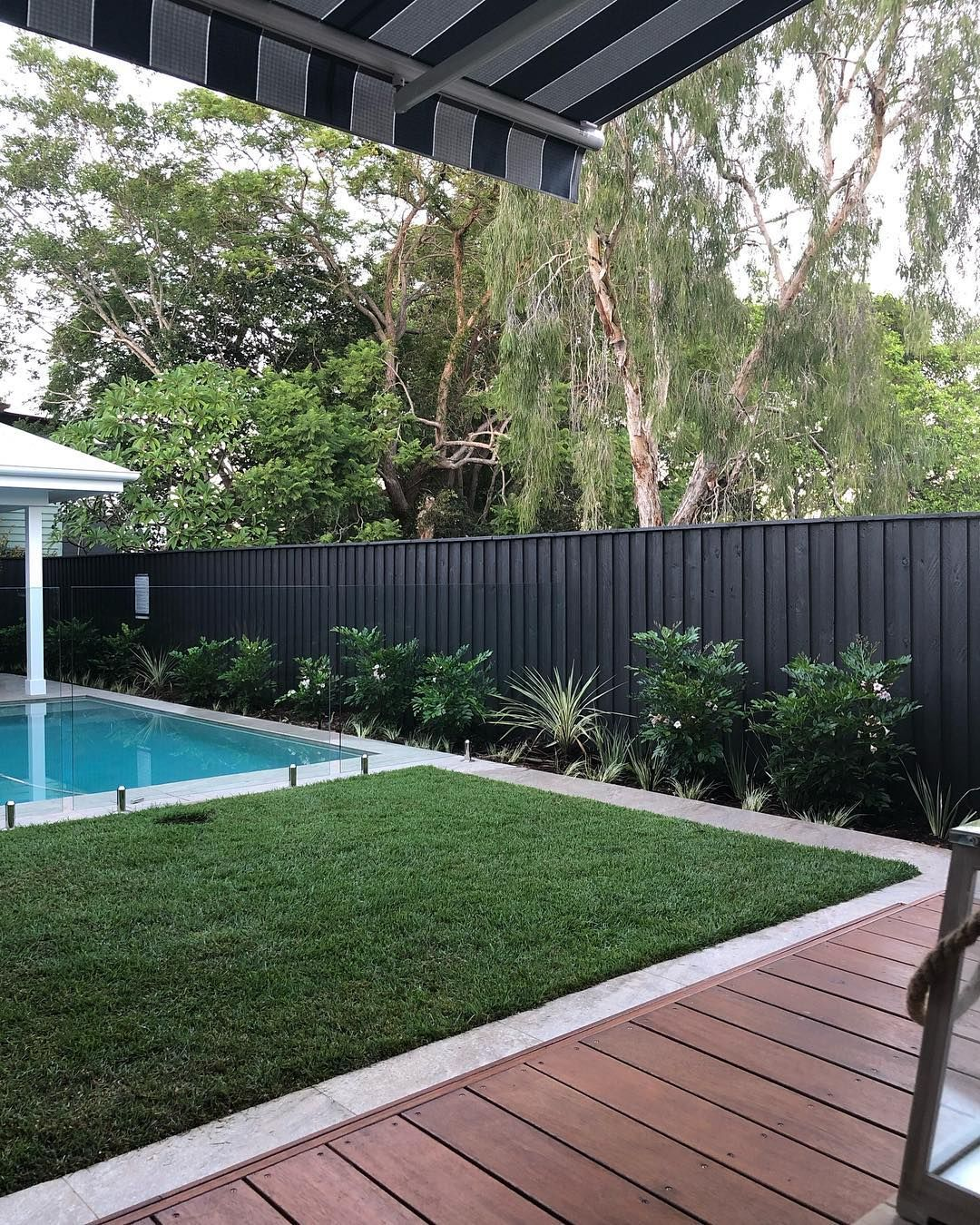 Anne Maree Russell On Instagram Dulux Monument Perfect Job Bradgrantzpainting Now T Tropical Pool Landscaping Pool Landscaping Outdoor Renovation