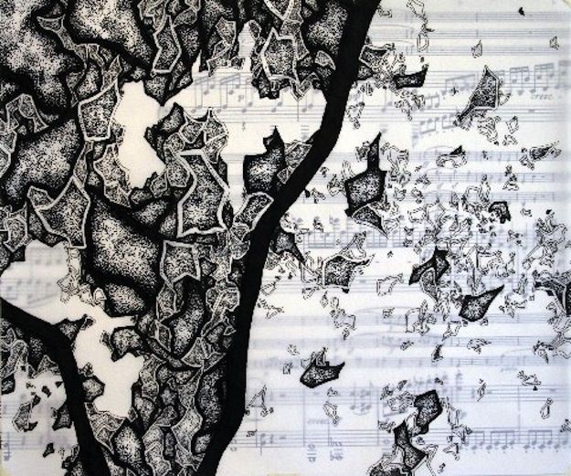 """Sheet Music Drawings & Quantum Mechanics,"" Jared Theis | 12 Breathtaking Examples Of Sheet Music Art"