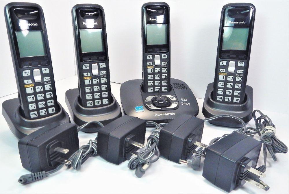 Panasonic Kx Tg6431 Dect 6 0 Cordless Telephone W Answering System W 4 Handsets Panasonic Cordlessphone Telephone Cordless Telephone Handset Cordless Phone