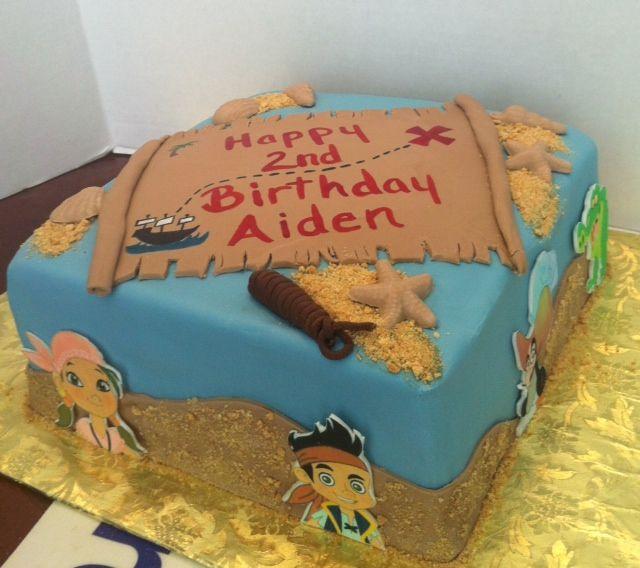 Jake and the Neverland Pirate Cake Disney Kids Birthday Ideas