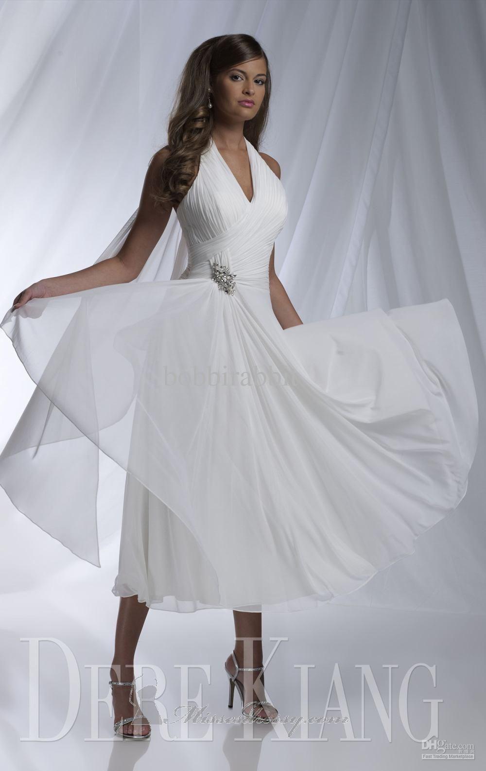 Pin On Wedding Dresses Short Halter [ 1586 x 1000 Pixel ]