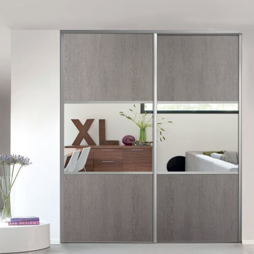 Découvrez Form Porte De Placard Coulissante Valla Chênemiroir - Porte placard coulissante avec portes interieures vitrees modernes