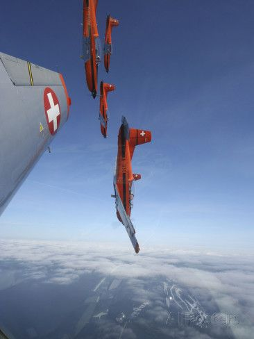 Swiss Air Force Display Team, PC-7 Team, Flying the Pilatus PC-7 Turboprop Trainer Aircraft