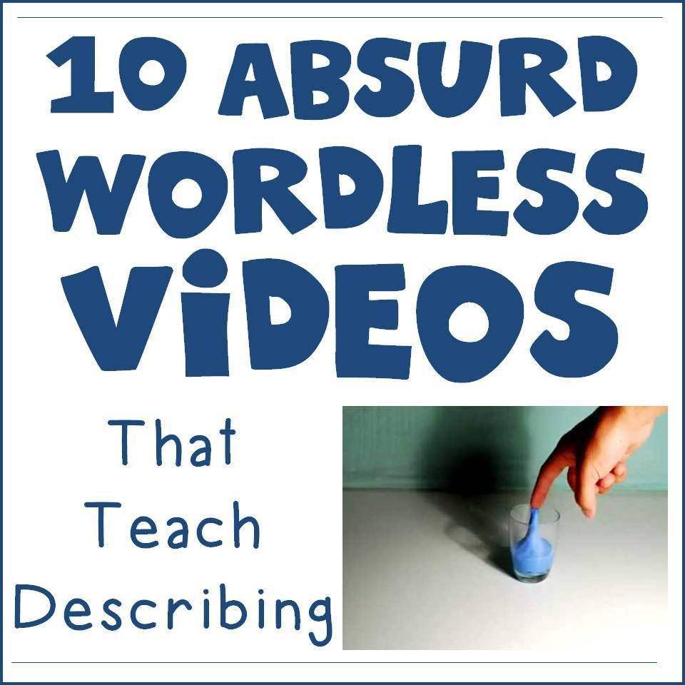 "10 Absurd Wordless Videos that Teach Describing is part of School speech therapy, Speech therapy activities, Speech therapy materials, Speech language therapy, Speech and language, Language therapy - I love using video in speech therapy  There are so many uses of video when students or clients struggle to describe, explain, or answer Whquestions  Another fun way to spark conversation is to use ""absurd images "" Showing a student a picture of something that could not be real is a great way to get them …"