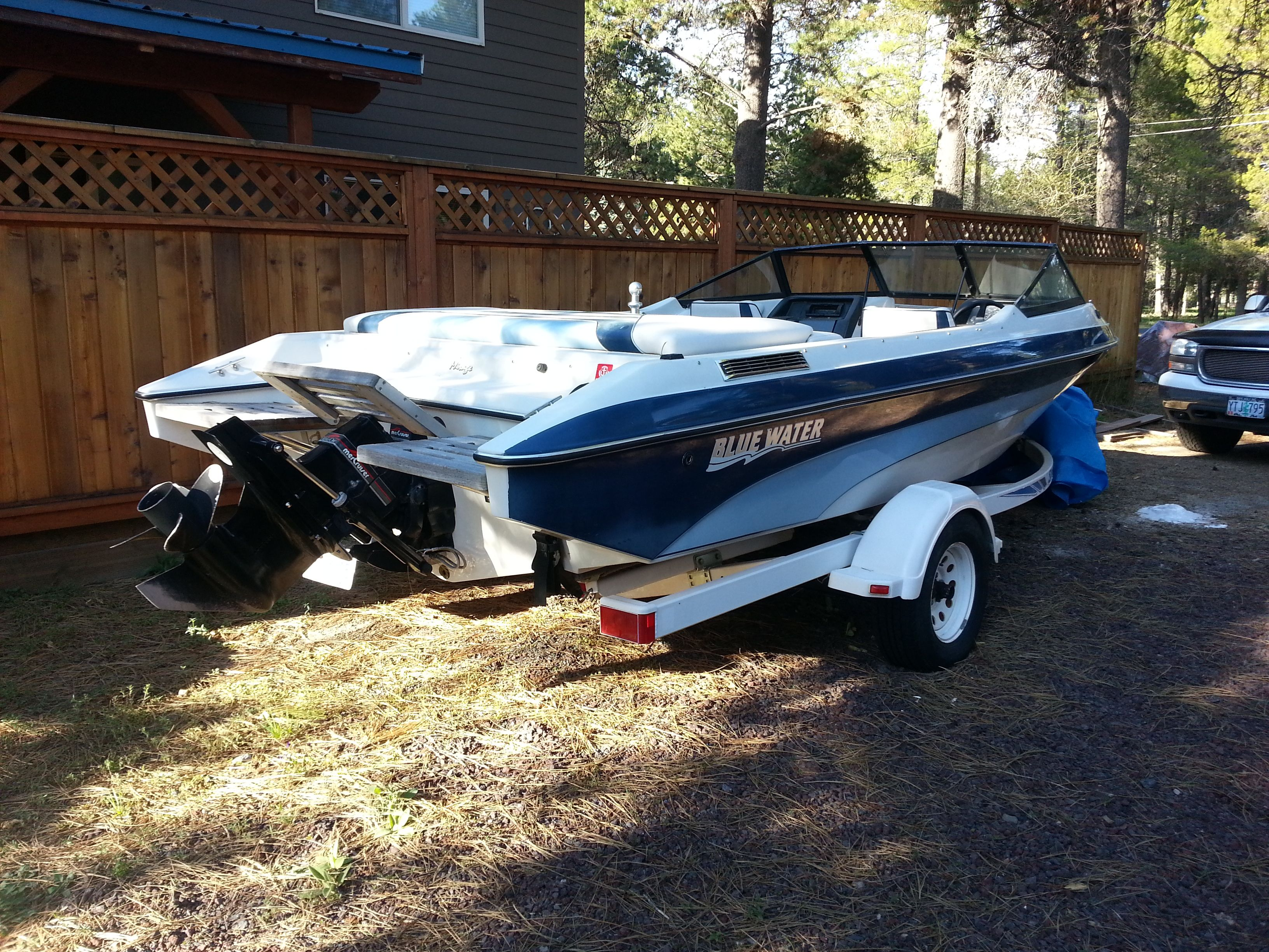 21 Ft Bluewater Mirage Boat Open Bow Swim Platform 4 3l Fuel Injected Mercruiser Engine With Less Than 100 Hrs On It On Ski Boats Family Ski Trip Bluewater