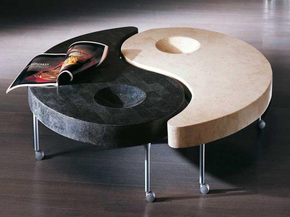 Yin Yang Glass Coffee Table 5