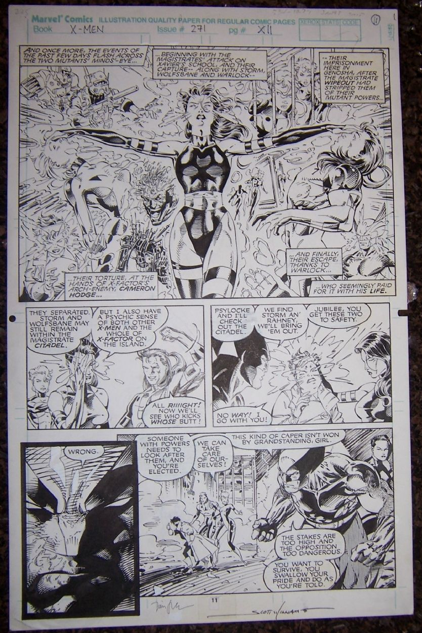 Uncanny X-Men 271 page 11 , in Dan Gallo's Jim Lee & Scott Williams Comic Art Gallery Room - 307678