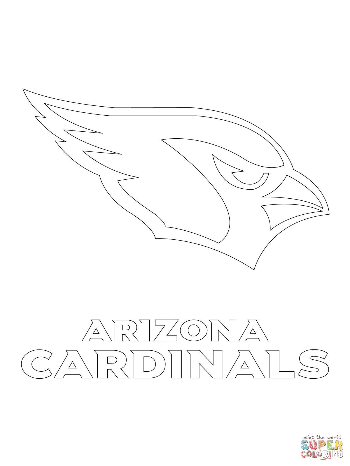 Arizona Cardinals Logo Coloring Page Free Printable Coloring