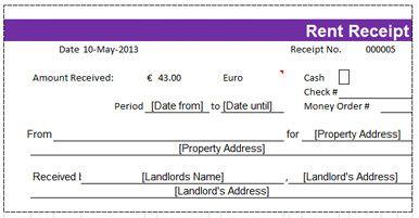 apartment rental receipt
