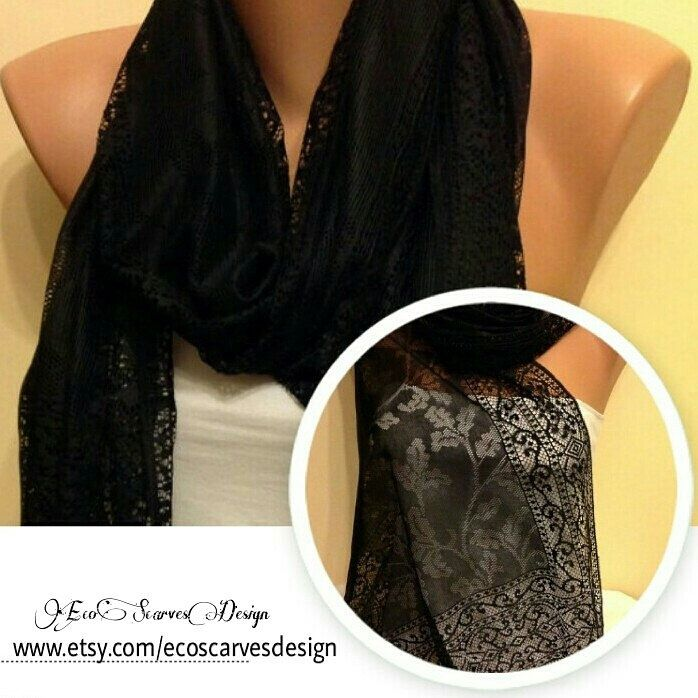 A personal favorite from my Etsy shop https://www.etsy.com/listing/185434781/black-tulle-light-fringed-scarfblack