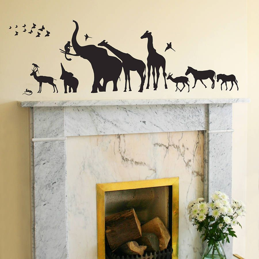 Safari walk animal wall sticker wall sticker walls and room safari walk animal wall sticker amipublicfo Image collections