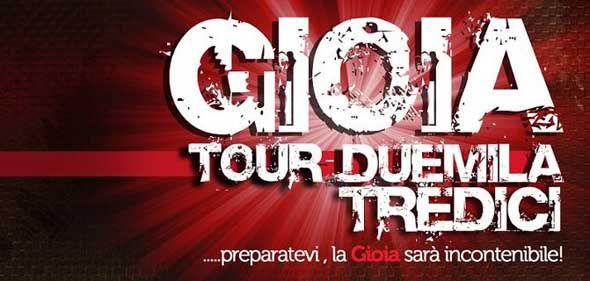 Modà Gioia tour 2013: tre eventi a Roma, Milano e Palermo
