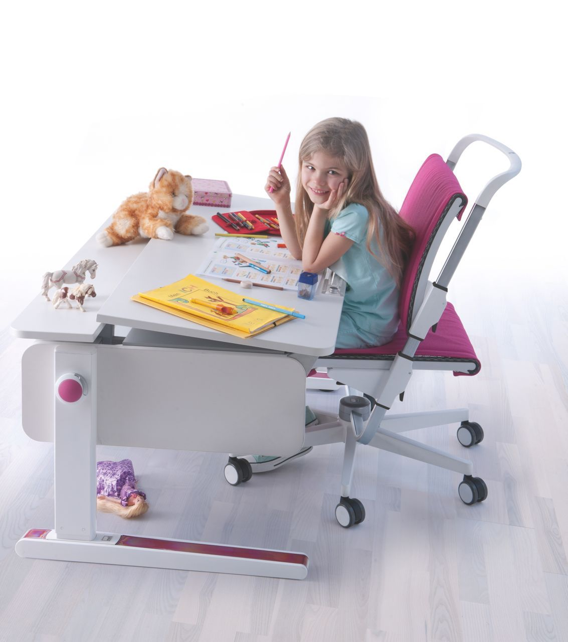 Ergonomic Chair Singapore Wicker Seat Cushion Covers Moll Champion Study Desk With The Scooter
