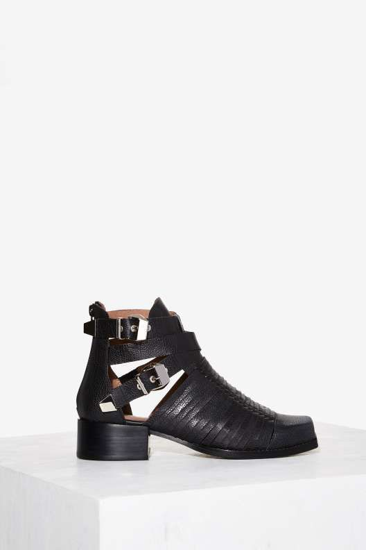 Rope 'Em In Satin Jumpsuit   Jeffrey campbell, Leather and Shoes