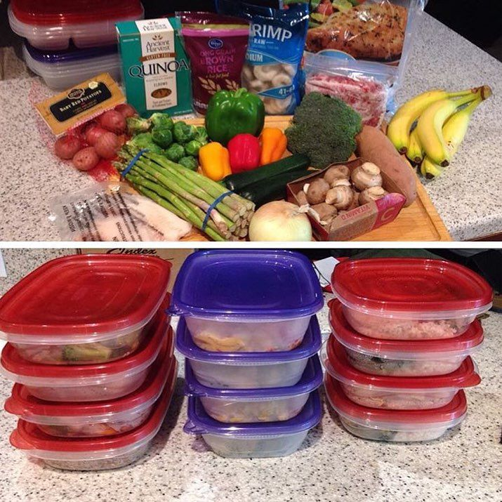 """#1 Meal Plan & Prep Tool on Instagram: """"The combined time spent thinking, planning, shopping, cooking, and cleaning up when you cook every day is outrageous! One of the biggest benefits of meal prepping in bulk is getting your time and evenings back. Love this """"transformation"""" by @themilsodiaries ...keep it up!"""