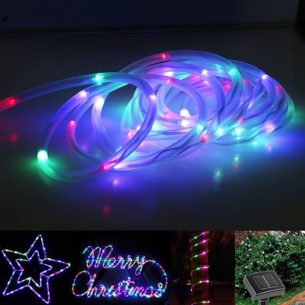 Light strip 33ft 100leds solar rope lights rgb waterproof outdoor light strip 33ft 100leds solar rope lights rgb waterproof outdoor tube neon lights ideal for christmas aloadofball Images