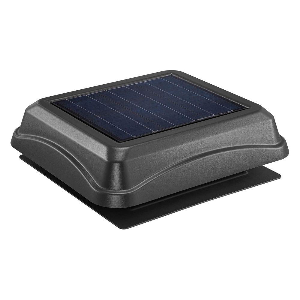 Broan 28 Watt Solar Powered Black Surface Mount Attic Vent 345sobk Broan Attic Vents Solar Power Diy