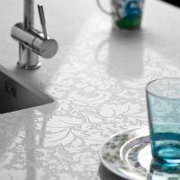 White Lace Countertops Motivo By Caesarstone Caesarstone Veranda Interiors Kitchen Cousins