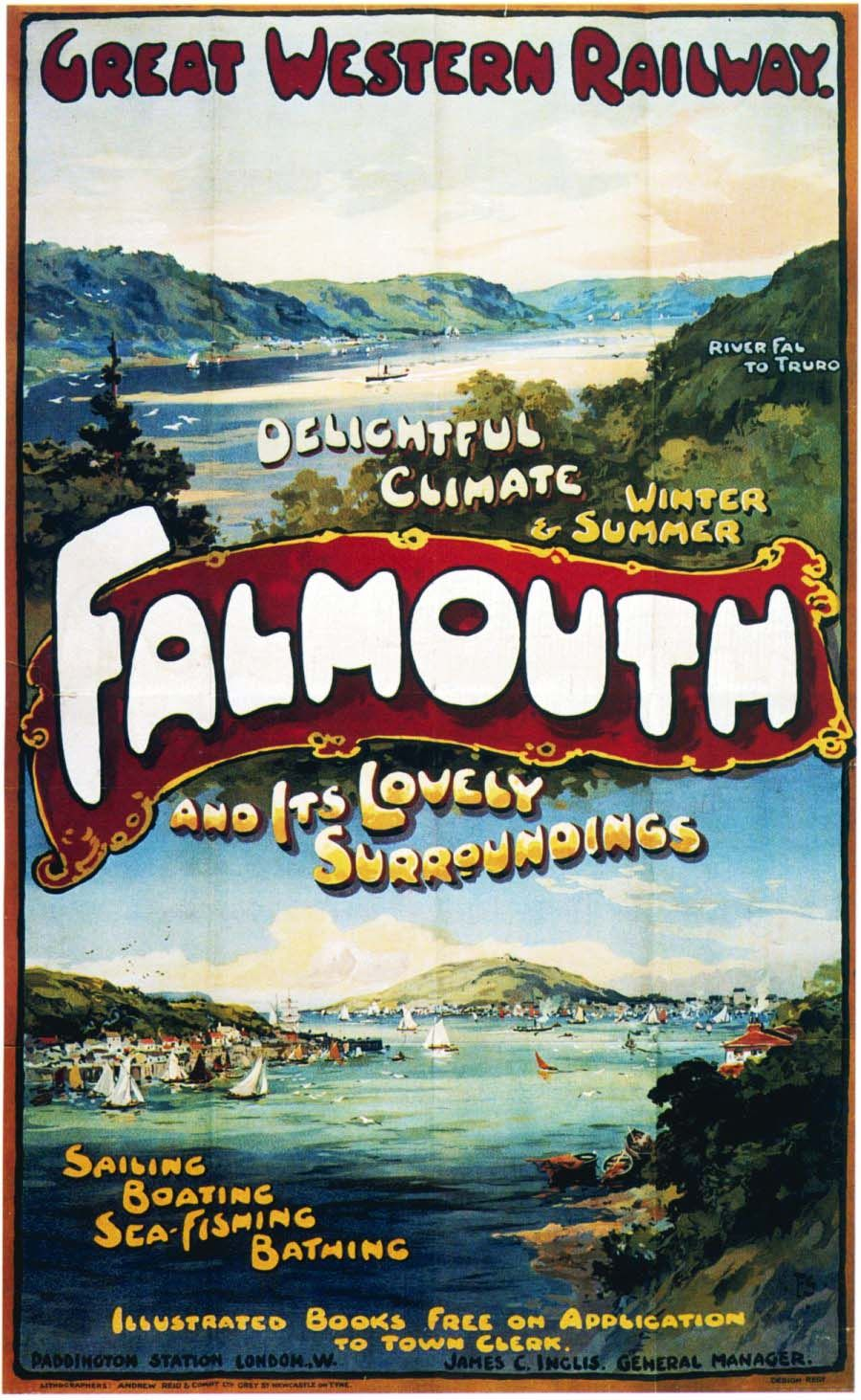 Falmouth, GWR. #travelposters