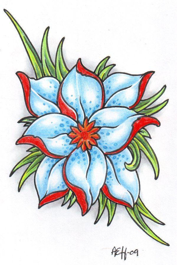 Gambar Bunga Mudah Berwarna Free Tato Tribal Bunga Mawar