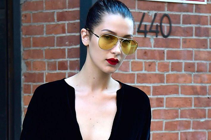 656ccf87e96c Yellow Sunglasses Will Make You Look Cool, Not Crazy Bella Hadid, Cat Eye  Sunglasses