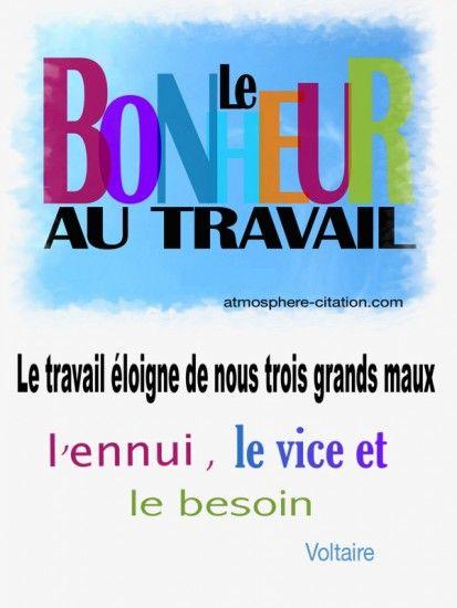 Citation Sur Le Travail Et Le Bonheur : citation, travail, bonheur, Bonheur, Travail, Quotes,, French, Words,, Words