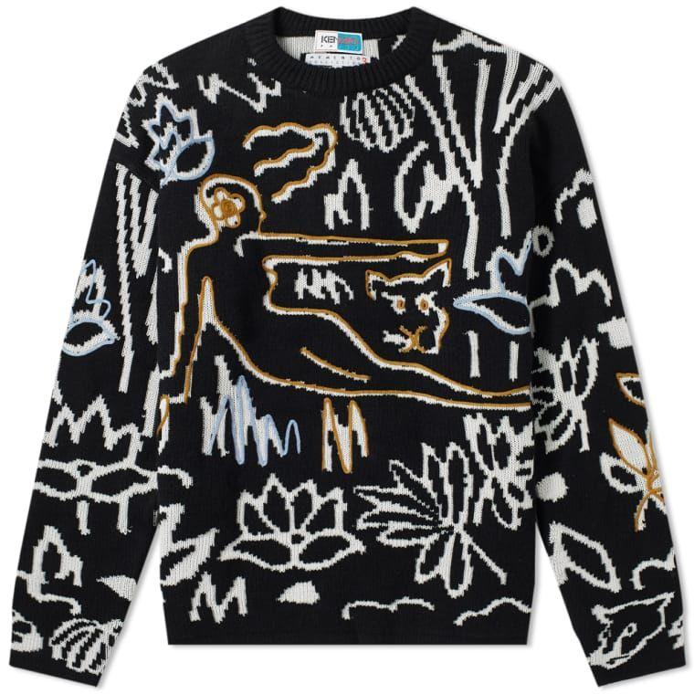 Kenzo Rousseau Embroidered Crew Knit Black 1 | M fAsHIOn