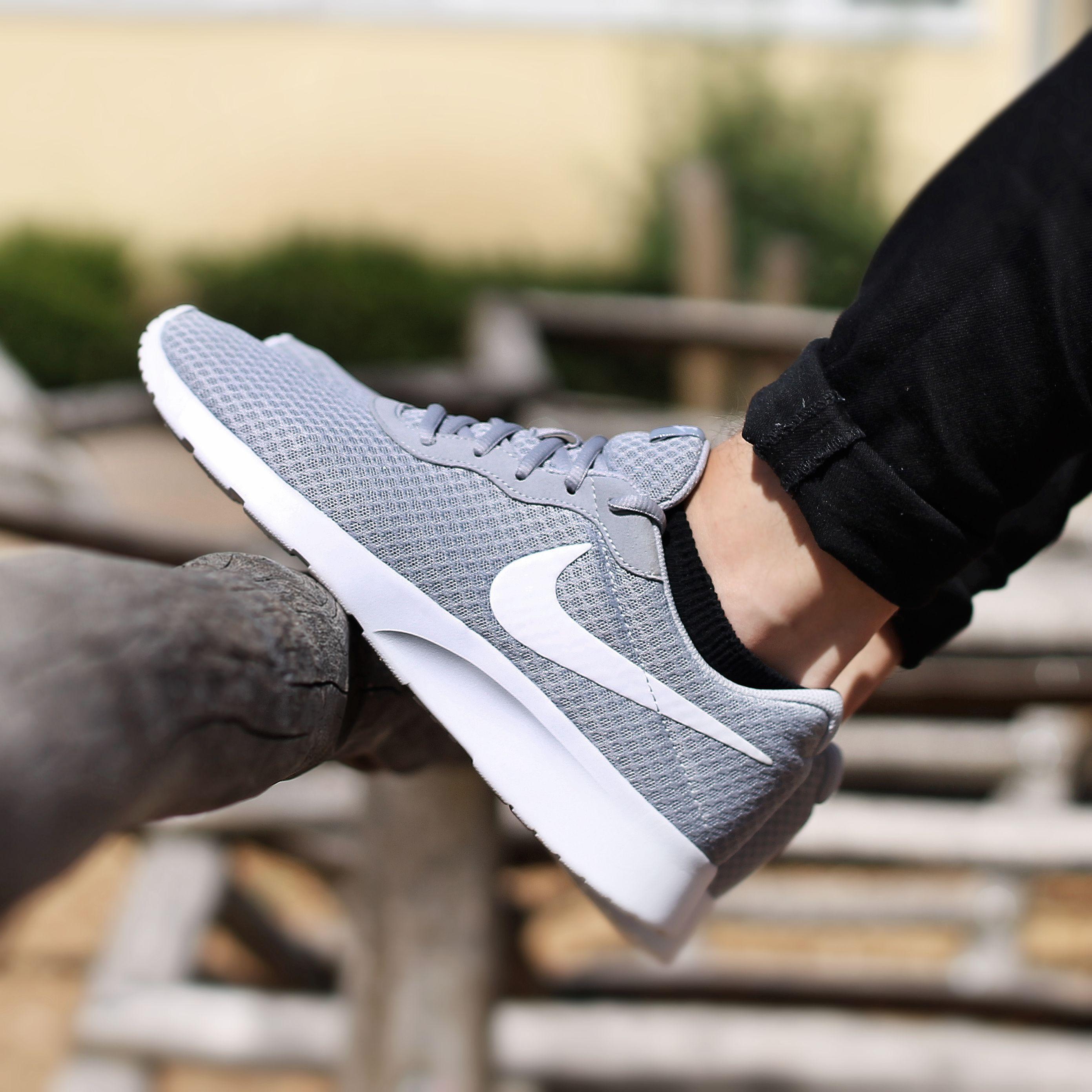grey nike tanjun trainers