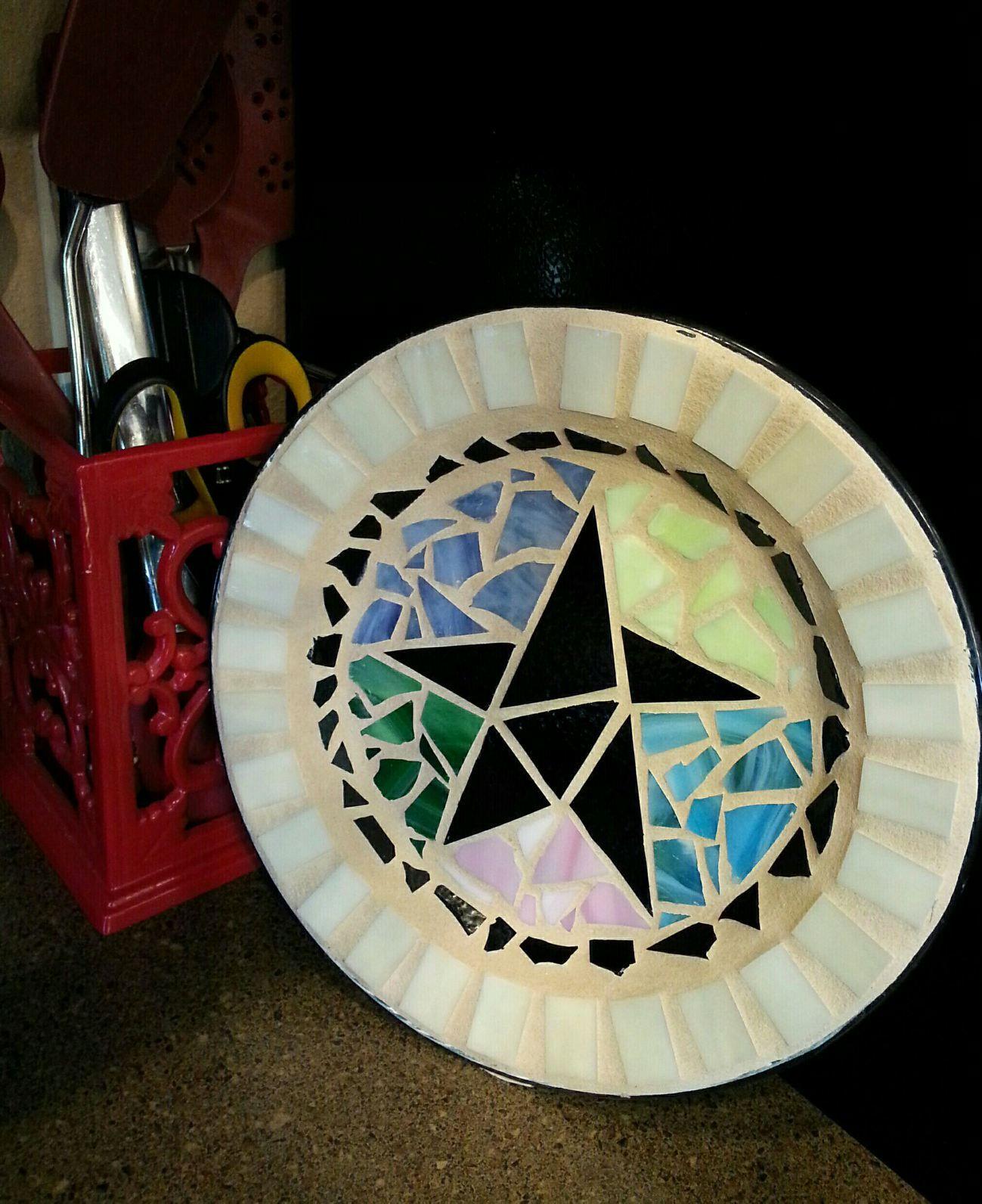 DIY. Mosaic Plate