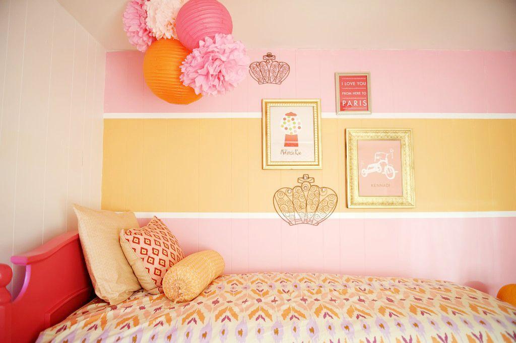 Cupcakemag small space revamp giveaway orange pink - Orange and pink bedroom ideas ...