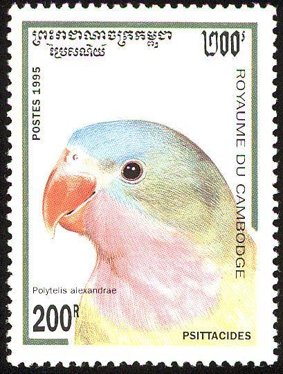 Camboya 1995 - El Perico Princesa,endémico de Australia.
