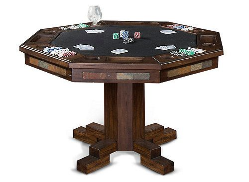 The Gorgeous Santa Fe Round Dining And Game Table Features A