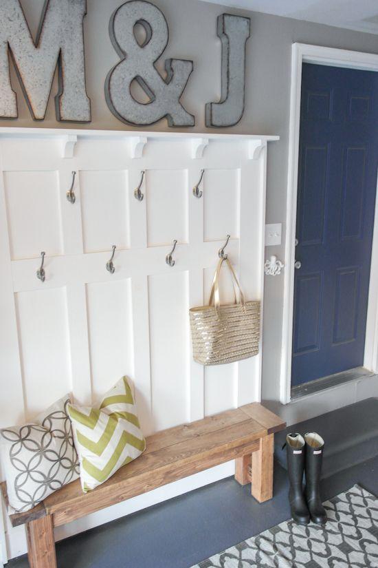 16 Brilliant Diy Garage Organization Ideas Diy Mudroom Bench Garage Decor Home Decor