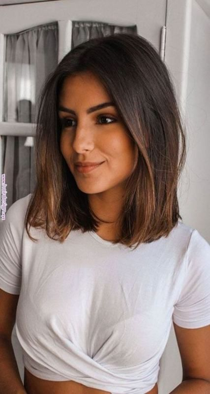 Hair dark brown straight short hairstyles 69  Ideas