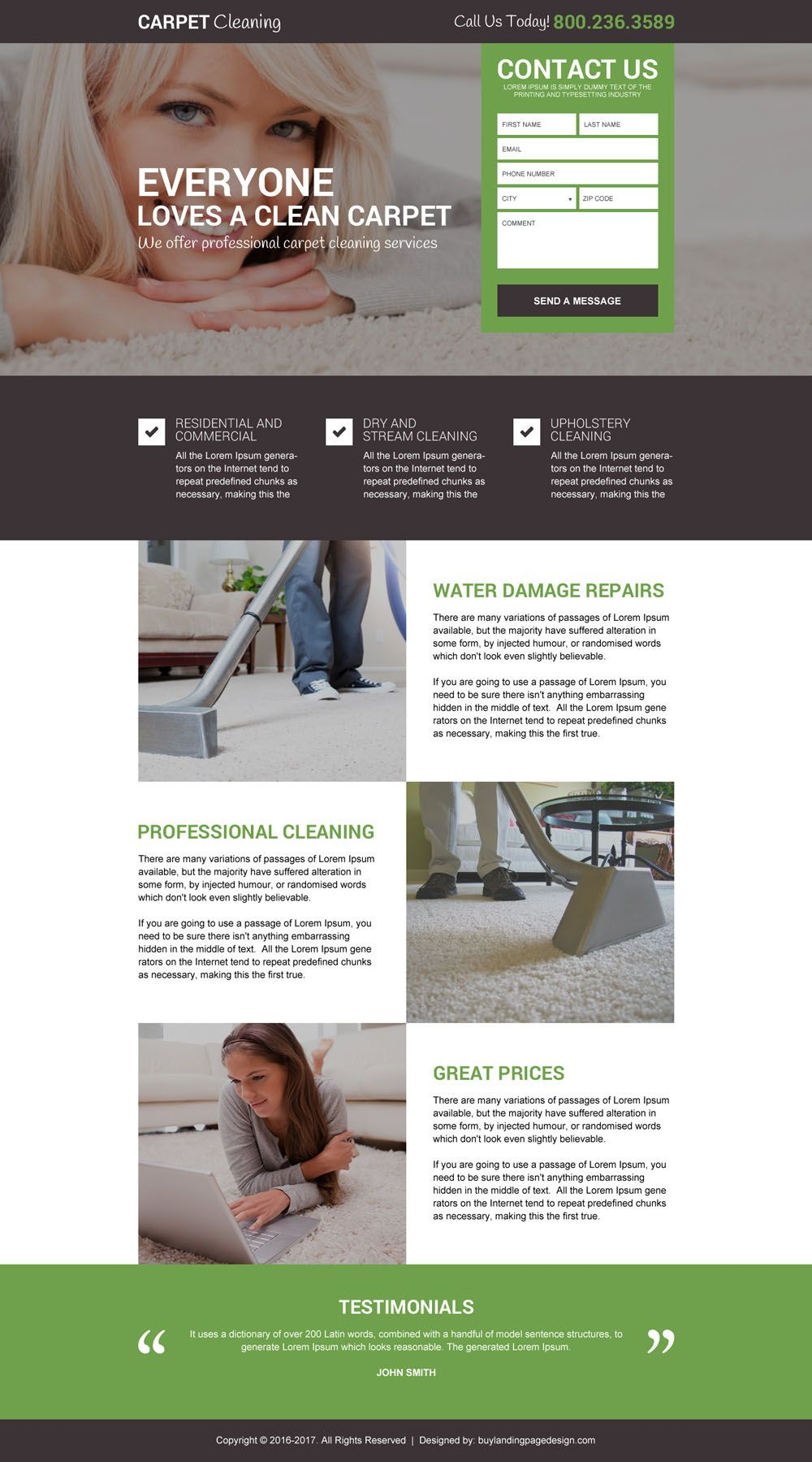 Carpet Quote Carpet Cleaning Service Free Quote Landing Page Design  Buy
